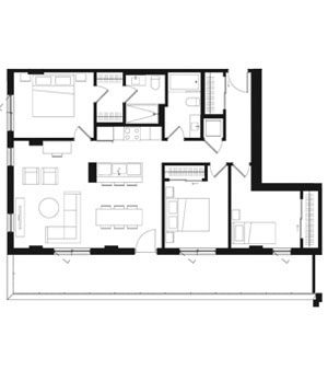 Plan condos 3 chambres à Brossard - Oria Condominiums